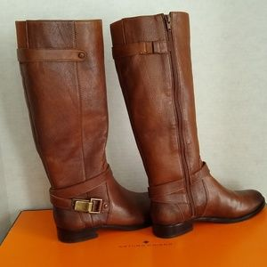 Artruro Chiang Tall Leather Riding Boot 7.5 NWT Bx